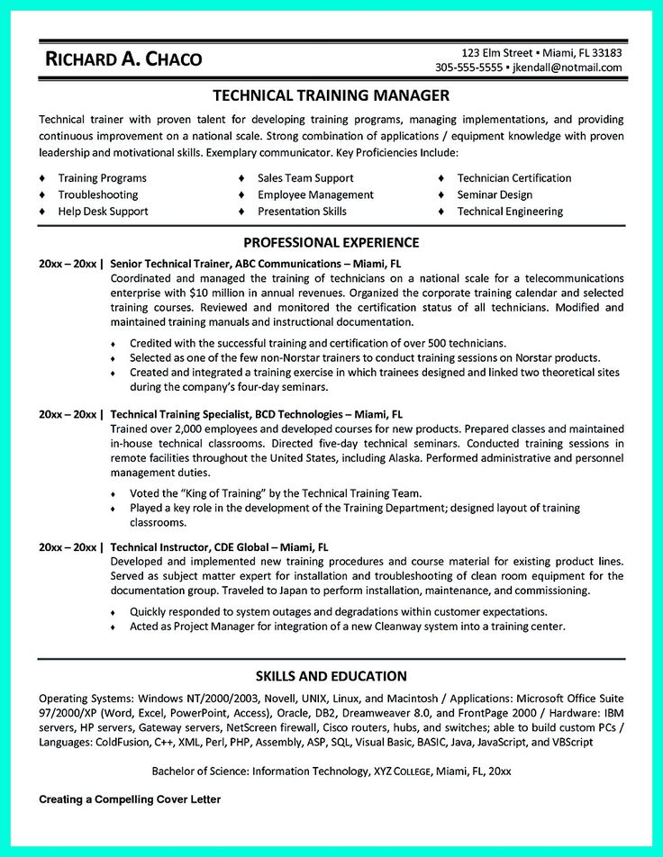 33 best Resume Ideas and Tips images on Pinterest Resume ideas - it technical trainer sample resume
