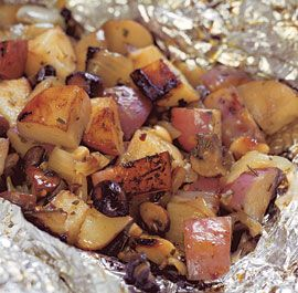 Grilled Potato & Mushroom Packages