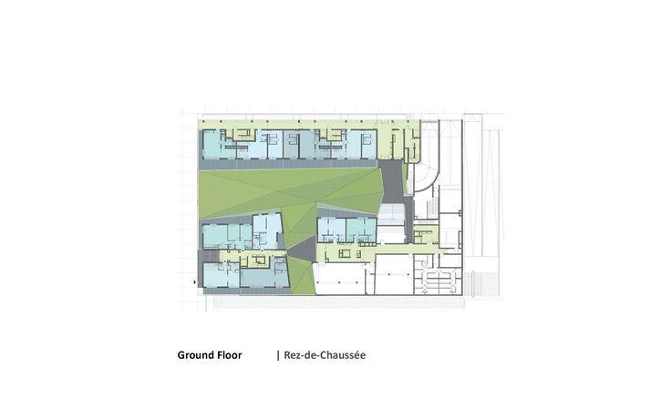 Housing Construction | Tania Concko | Architects Urbanists LYON CONFLUENCE LOT A Plan © TCAU