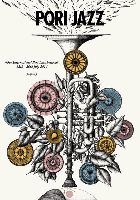 Pori Jazz / Merijn Hos. via grain edit #illustration #jazz