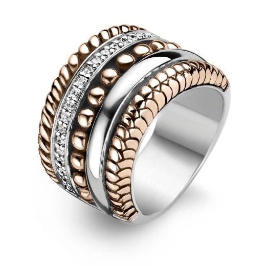 Ti Sento Ring 1835ZR Sterling Silver, Rose Gold & Cubic Zirconia - £175 - Ti Sento Jewellery at Shades of Time