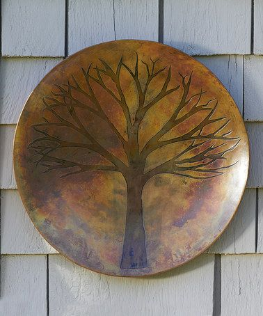 Love This Flamed Tree Outdoor Wall Hanging By Ancient Graffiti On