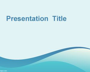 Light template for Power Point is a nice light blue wave PowerPoint background that you can use in your PowerPoint presentations