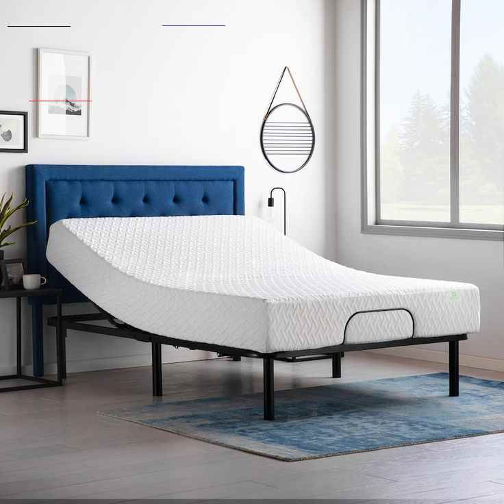 Lucid Dream Collection 10 Inch Medium Memory Foam Mattress With Essential Adjustable Bed Base Queen In 2020 Adjustable Bed Base Adjustable Beds Foam Mattress