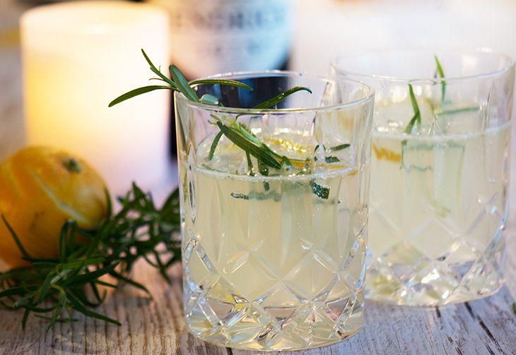 Cocktail med bergamotte og gin