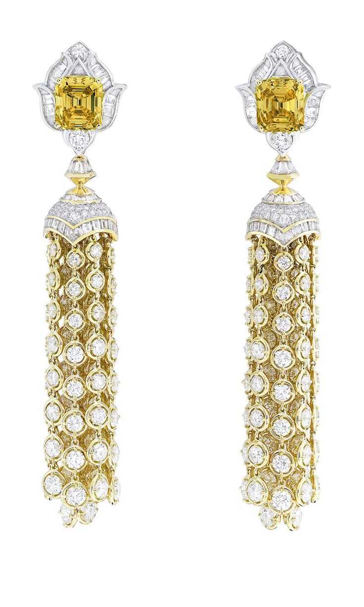 Van cleef amp arpels vca 18k yellow gold ruby cabochon amp diamond - Pierres De Caractere Earrings By Van Cleef Arpels White Gold With Round And Baguette