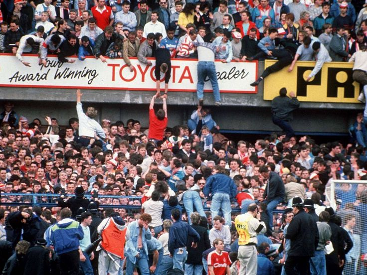 Image result for hillsborough fans help fans up the wall