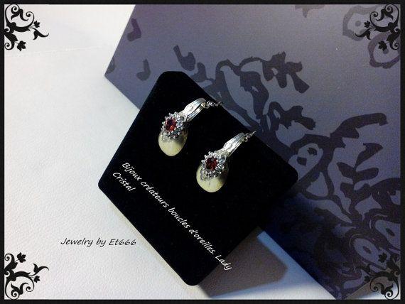 Bijoux créateurs boucles d'oreilles. Lady Cristal