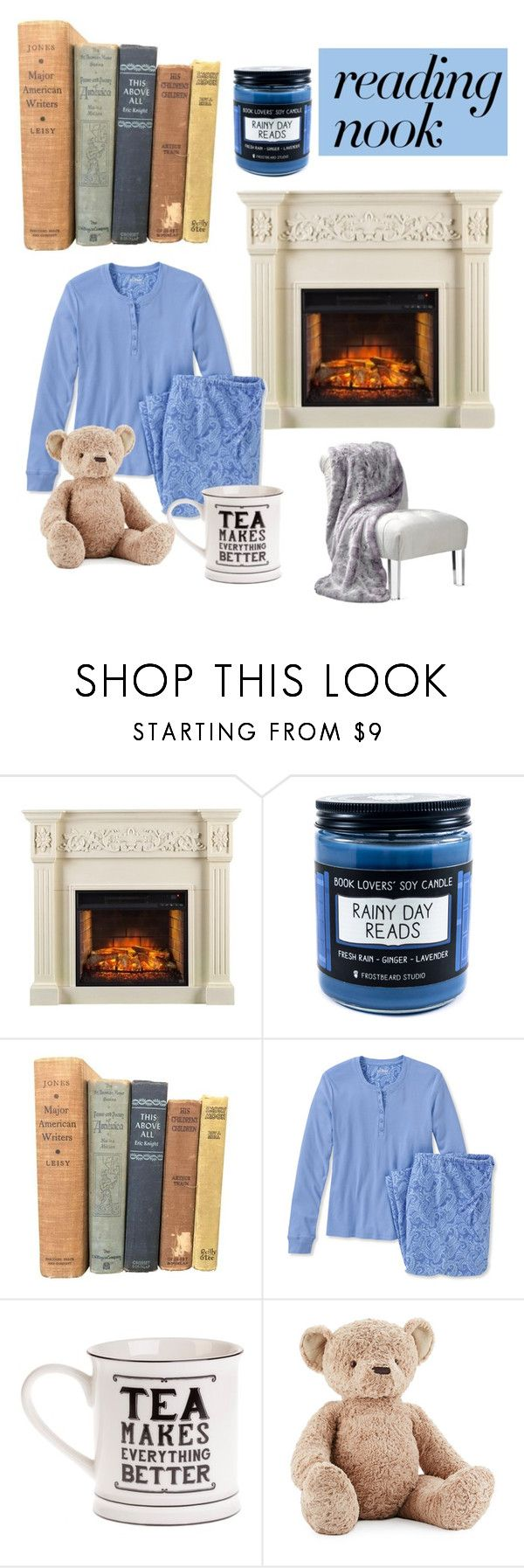 """Cozy rainy day"" by girlboss1 ❤ liked on Polyvore featuring Vintage Collection, L.L.Bean, Jellycat and Nook"