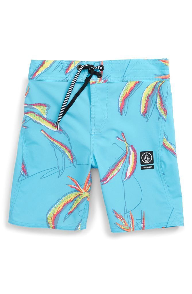 60fad63c23 Tropical Print Board Shorts | Stuff to buy in 2019 | Volcom shorts, Swimsuit  shops, Shorts