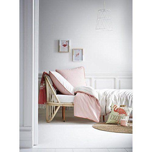 Today 015754 Enjoy Jungle Parure de lit avec Housse de couette/2 Taies d'oreiller Coton Rose/Beige 220 x 240 cm: Amazon.fr: Cuisine & Maison