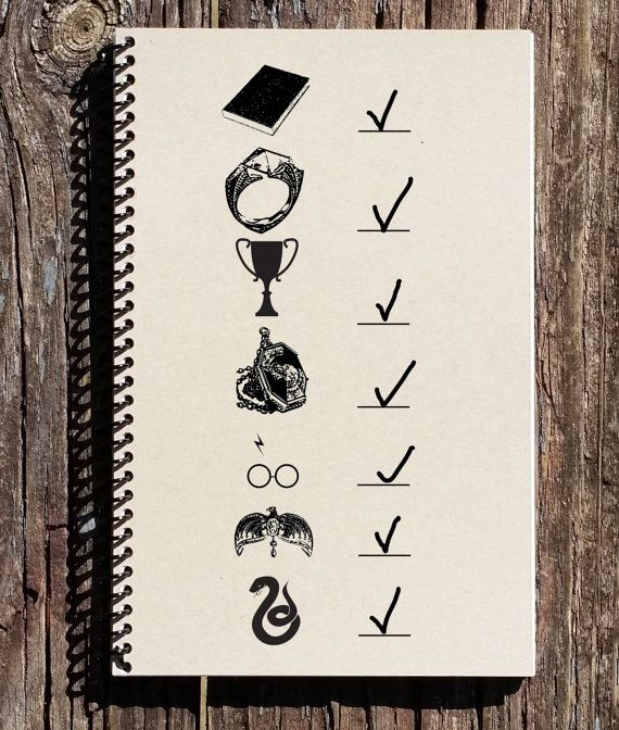 Harry Potter Inspired Journal - Seven Horcruxes - Horcrux Notebook - Horcrux Journal - Voldemort - Harry Potter
