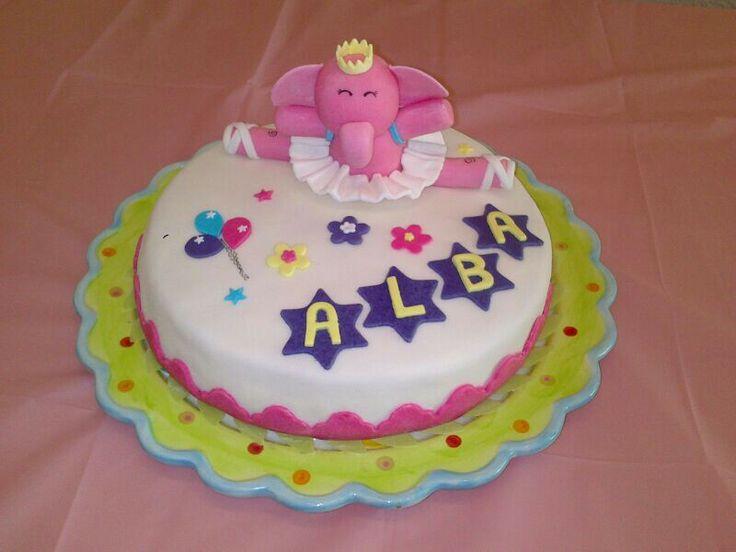 Mi primera tarta de fondant. Segundo cumpleaños de mi niña