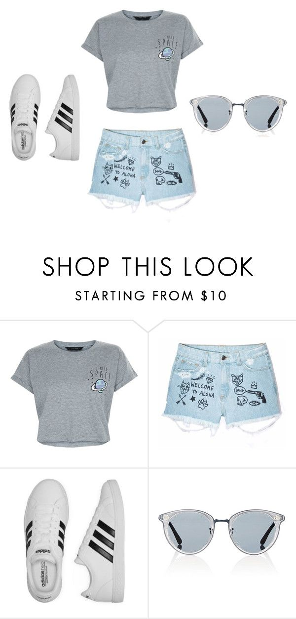 """""""spacey days"""" by leeshy17 on Polyvore featuring New Look, Aloha From Deer, adidas and Oliver Peoples"""