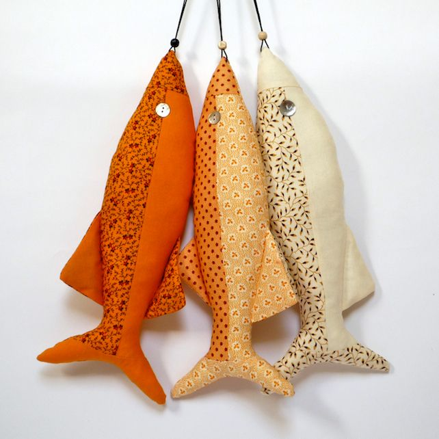 Moda Fabric Decorative Fish - sunshine yellow and flowers