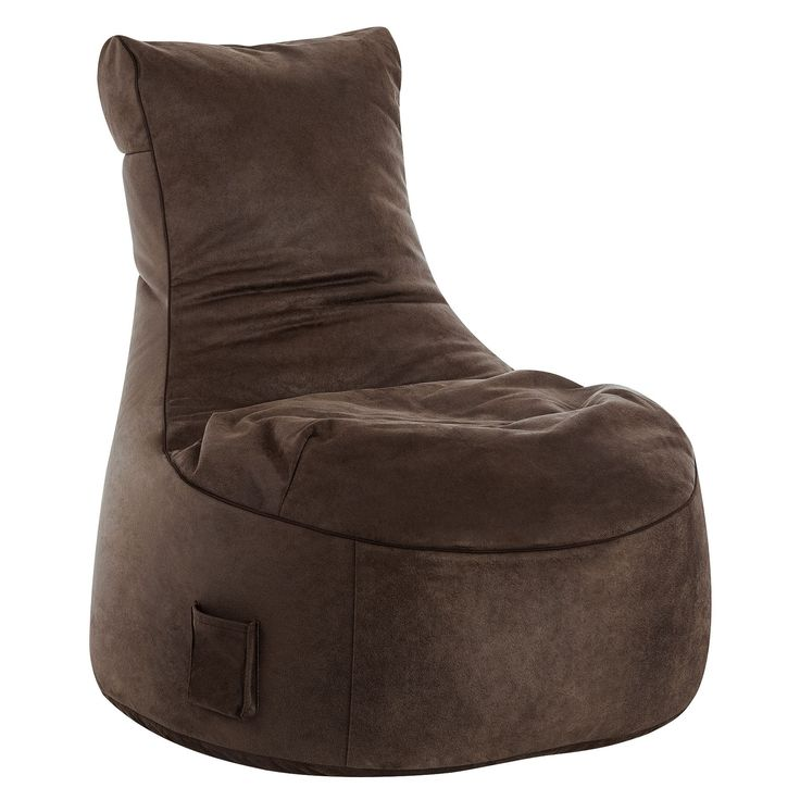Sitting Point Wax Suede Fabric Swing Cuba Brown Bean Bag Extra Large