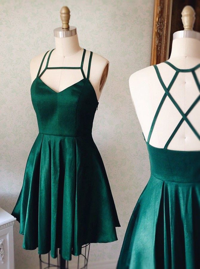 2017 homecoming dresses,simple homecoming dresses,green homecoming dresses,cheap hoecoming dresses