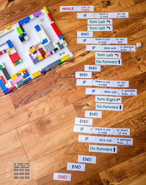 Level 4 of Coding a LEGO Maze