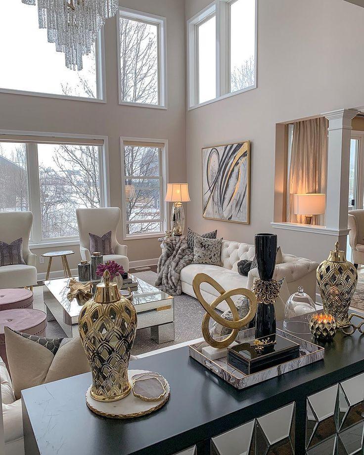Farah Merhi On Instagram Happy Sunday Insta Fam Sharing With You My Family Room With My Own Ne Living Room Decor Cozy Elegant Living Room Elegant Home Decor