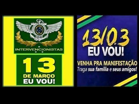 EXALTADOS E A MANIFESTAÇÃO DO DIA 13 BOMBANDO