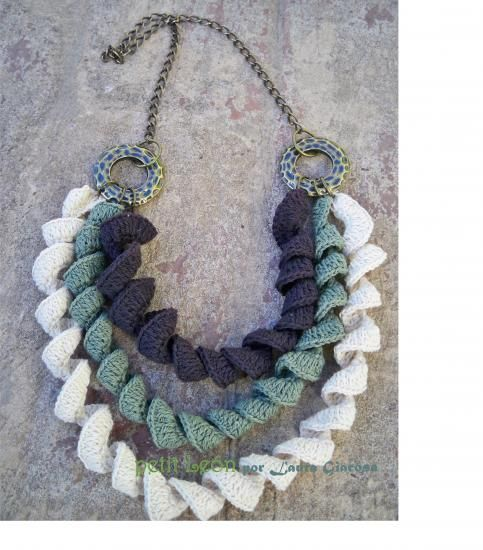 Collar tejido al crochet - artesanum com