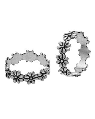 Sterling Silver Floral Toe Rings  |  Buy Designer & Fashion Toe Rings Online