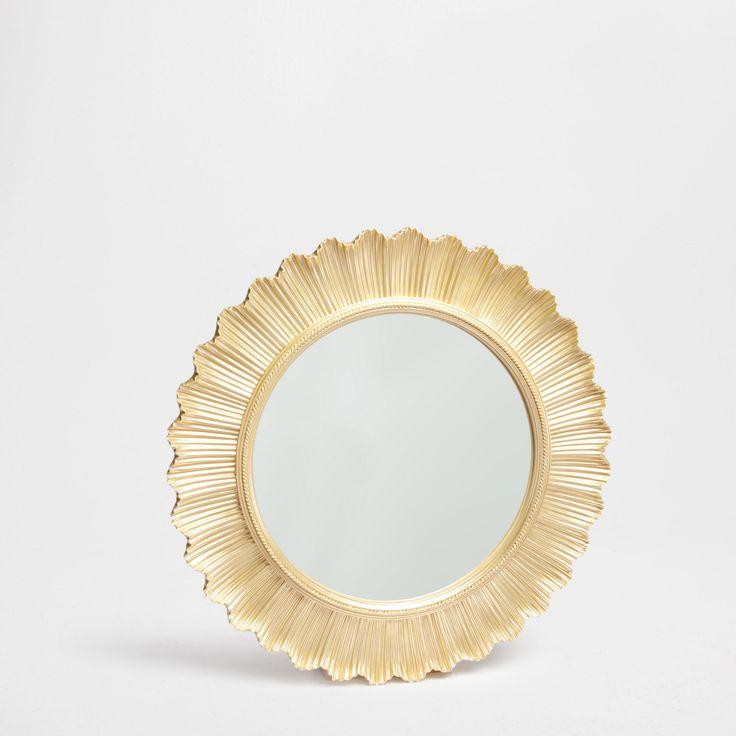 zara home round golden mirror