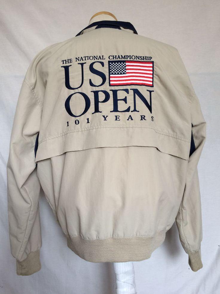 US Open Golf Mens Jacket Windbreaker Medium Beige 101 Years USGA PGA Starbus #Starbus #BasicJacket
