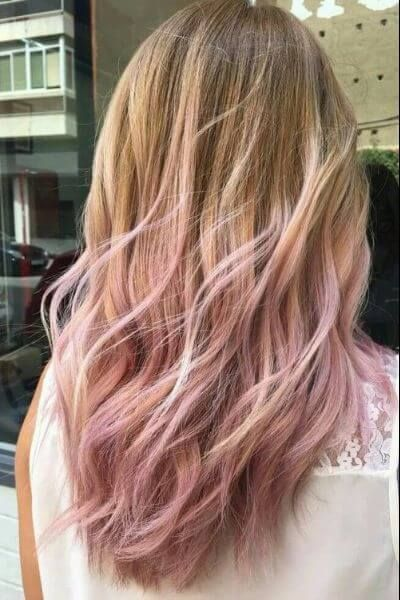 light pink aubergine in blonde hair | 75 Sombre Hair Ideas for a Stylish New Look | Hair Motive Hair Motive
