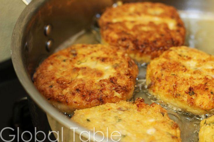 Bajan Sweet Potato Fish Cakes w/ a few adaptations using the sweet potato cake recipe from my Plenty cookbook