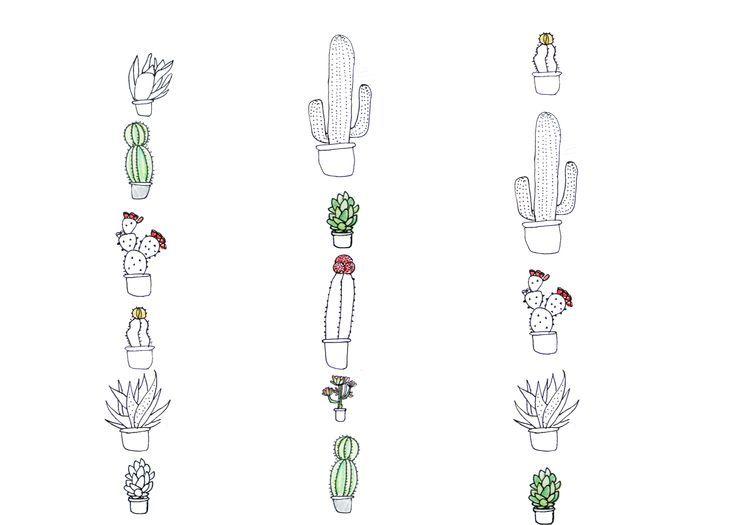 tiny cactus tattoo