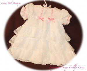 newborn baby dresses for special occasions | ... Lacey Baby Dress - Layered with Lace - Infant - Special Occasion Dress