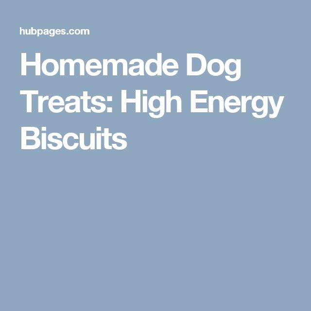 Homemade Dog Treats: High Energy Biscuits