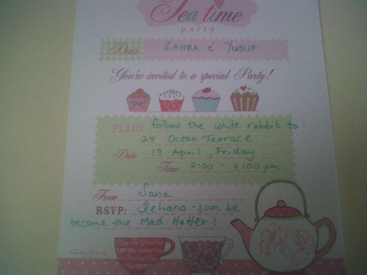 sanas bday invite