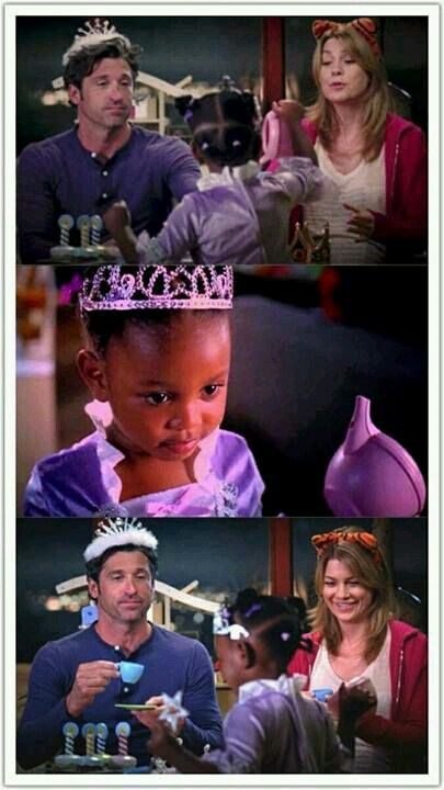 Ringraziamo Zola per la vista di Derek con un diadema da principessa