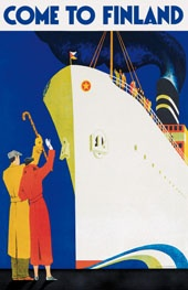 Vintage travel poster--Come to Finland