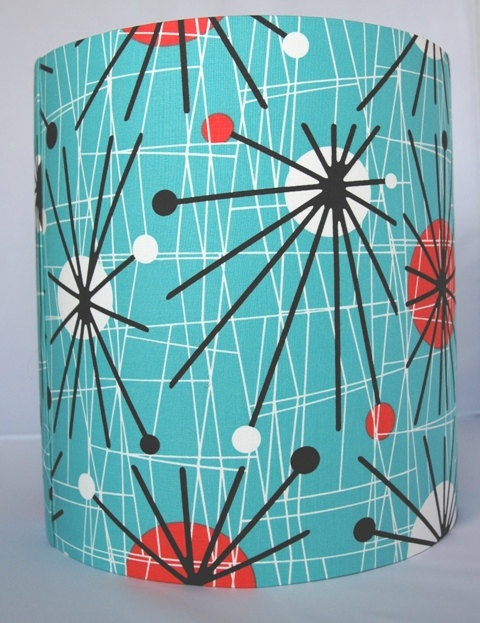 Best 14 retro lampshades images on pinterest lamp shades retro print lampshade by ohsusannahx on etsy 3600 aloadofball Gallery