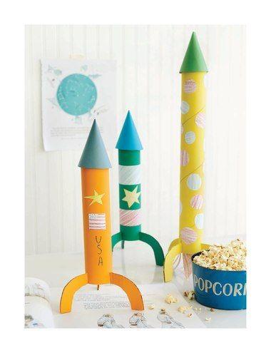 #tuto : fabriquer des fusées à partir de rouleaux en carton par Sweet Paul (en anglais) #DIY