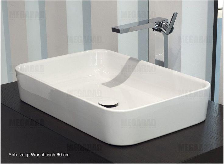 Bette BetteArt Aufsatzwaschtisch 80 x 40 cm A182-000 - MEGABAD 675 - badezimmer 60 cm