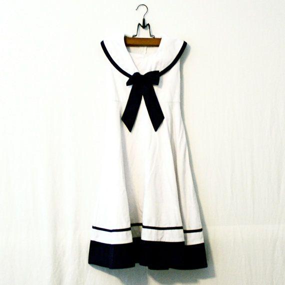 Ginger // Vintage Sailor Dress