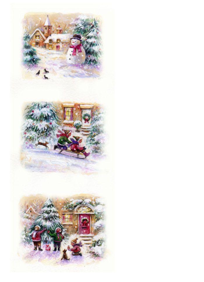 Jim Mitchell - CHRISTMASjpg christmas village clip art