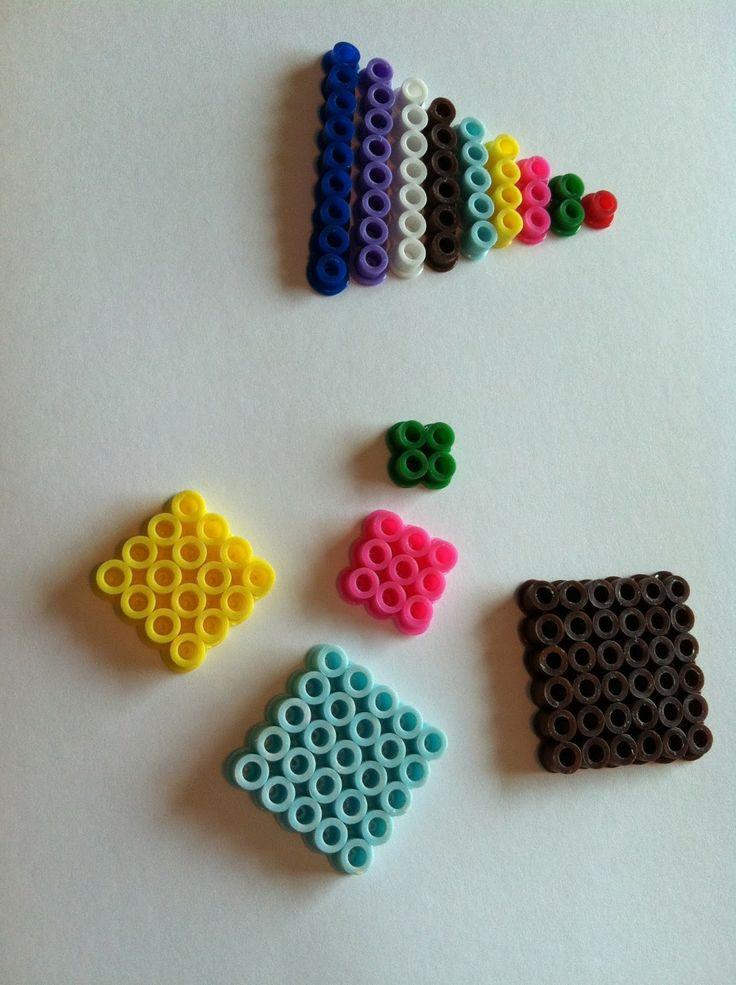 Montessori mathématique avec des perles HAMA