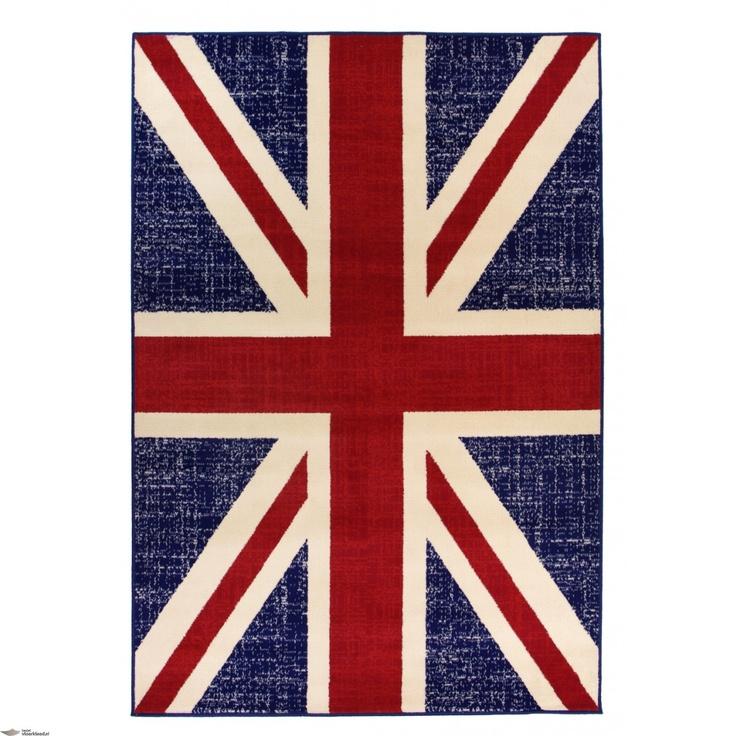 Vloerkleden Kartpetten Vlag Engeland Rood Blauw