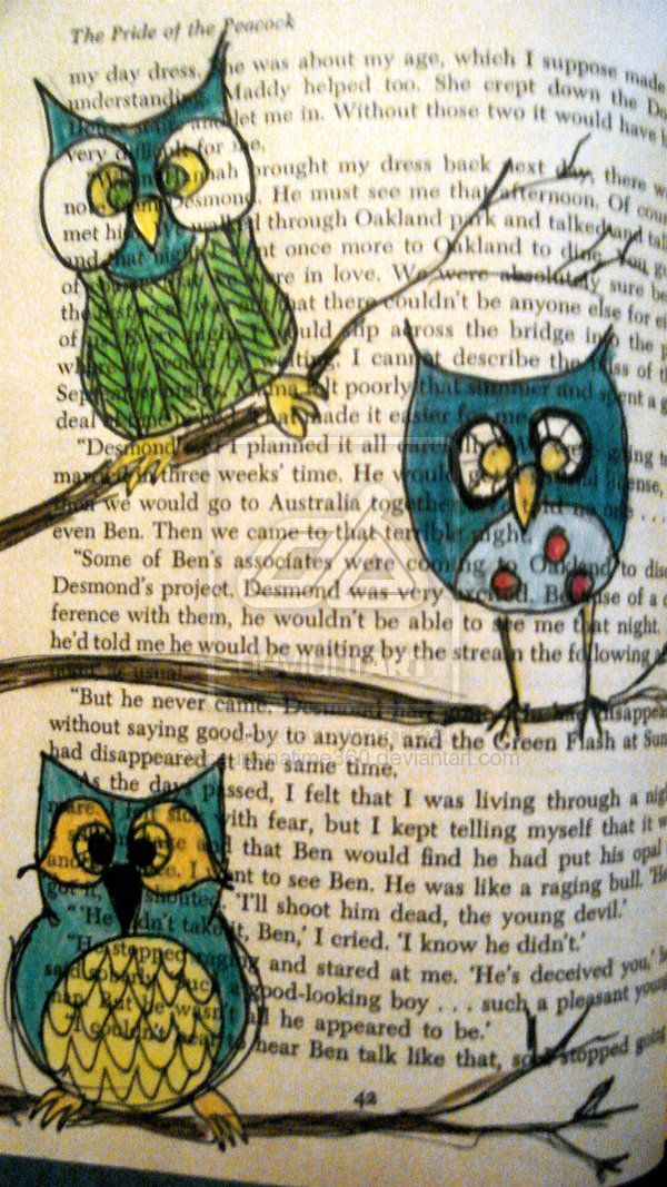 Owl art on dictionary page.....love. This is so good - but I'm not so sure a…