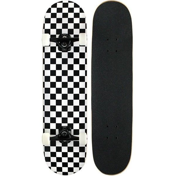 Amazon.com : Pro Skateboard Complete Deck Checker / Checkered Pattern... ($32) ❤ liked on Polyvore featuring skateboard