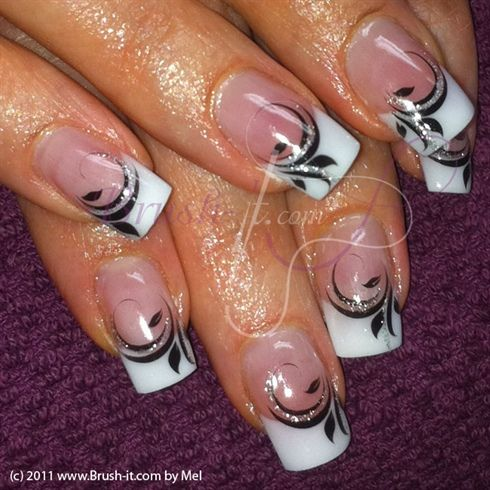 Black White by Passionail - Nail Art Gallery https://nailartgallery.nailsmag.com by Nails Magazine https://www.nailsmag.com #nailart