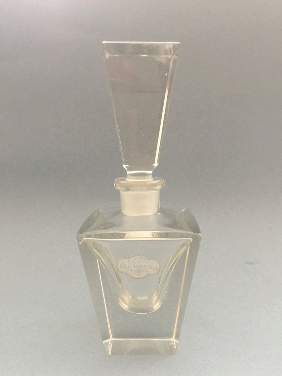 Hand cut vintage chrystal perfume bottle EB Iser by ArteEtBrocante