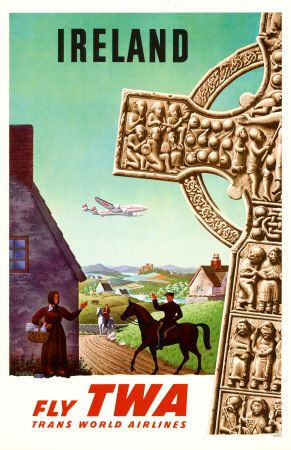 Vintage Ireland Travel Poster
