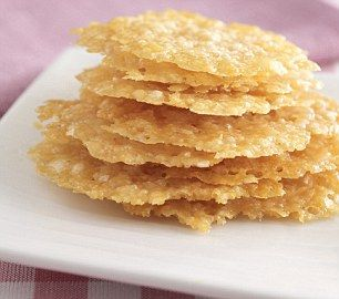 Parmesan Cheese Crisps. Had these at a Christmas party and they were ...