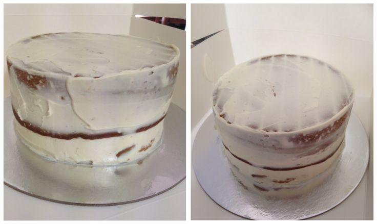 Banana cake cream cheese icing smash cake